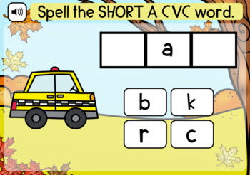 Boom Cards   Spell Short A CVC Words