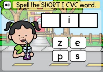Boom Cards | Spell Short I CVC Words