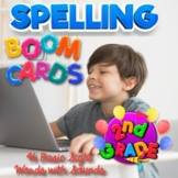 BOOM Cards Spelling Practice, 46 Words with Audio, 2nd Gra