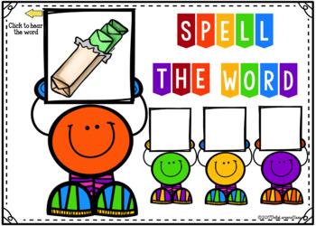 Boom Cards - Spelling CVC Words
