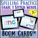 Boom Cards™ Spelling Practice Grade 1 Sitton List 1 Distance Learning