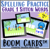 Boom Cards™ Spelling Practice Grade 1 Sitton List 2 Distance Learning