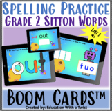 Boom Cards™ Spelling Practice Grade 2 Sitton List 2 Distance Learning