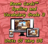Boom Cards™ Spelling & Vocabulary 3-01 thru 3-05