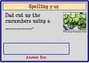 """Boom Cards™ Spelling & Vocabulary 3-03:  """"I"""" Sounds"""