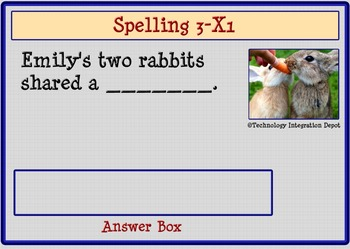 """Boom Cards™ Spelling & Vocabulary 3-X1: """"Vegetables"""""""