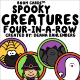 Boom Cards™️ Spooky Creatures Four-in-a-Row