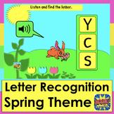 Boom Cards™ Spring Capital Alphabet Letter Recognition Wit