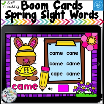 Boom Cards Spring Dolch Primer Sight Words