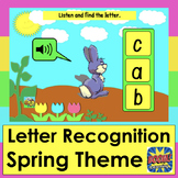 Boom Cards™ Spring Lowercase Alphabet Letter Recognition W