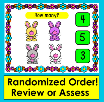 Boom Cards™ Spring Math Counting to 10 - Click/Touch the Answer - Baby Animals