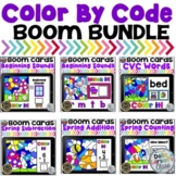 Boom Cards Spring Math and Literacy Color By Code Bundle