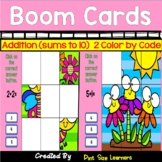 Boom Cards | Spring May | Color by Code | Addition
