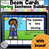 Boom Cards Spring Sentence Building  Distance Learning
