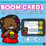 Boom Cards Spring Simple and Compound Sentences Distance Learning