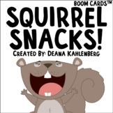 Boom Cards™️ Squirrel Snacks!