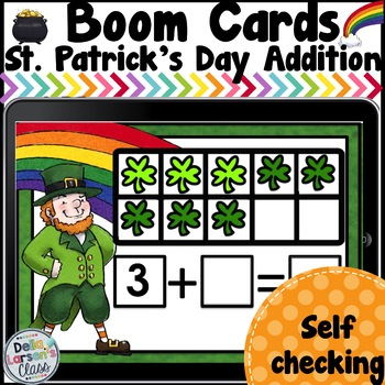 Boom Cards St. Patrick's Day Addition Fluency