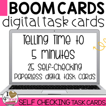 Boom Cards Telling Time to 5 minutes