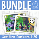 Boom Cards™ Subitize Numbers Bundle