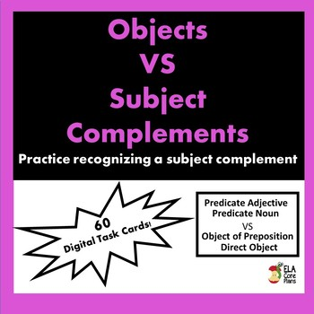 Boom Cards ~ Subject Compliments vs. Objects