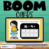 Boom Cards Subtraction Facts Set 1 Distance Learning