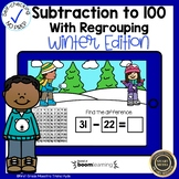 Boom Cards Subtraction with Regrouping Winter