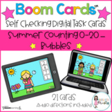 Boom Cards™  Summer Counting - Bubbles (0-20)