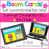 Boom Cards™  Summer Counting - Ice Cream (0-20)