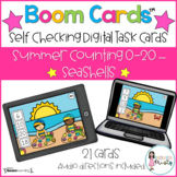 Boom Cards™  Summer Counting - Seashells (0-20)