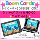 Boom Cards™  Summer Counting - Shark Teeth (0-20)