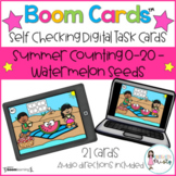 Boom Cards™  Summer Counting - Watermelon Seeds (0-20)
