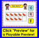 Boom Cards Summer Math Counting to 20 - With Ten Frames Self-Correcting