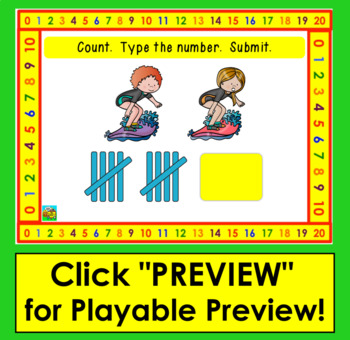 Boom Cards Summer Math: Tally Marks Counting to 20 - End of the Year