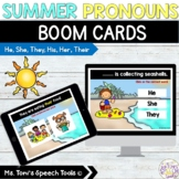 Boom Cards™ Summer Pronouns | Distance Learning