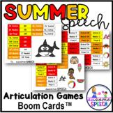 Boom Cards: Summer Speech Articulation Games