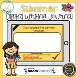 Boom Cards Summer Writing Journal