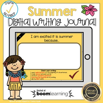 Boom Cards Summer Writing Journal