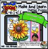 Boom Cards | Sunflower Make And Learn Puzzle + Printable