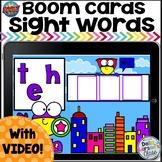 Boom Cards Superhero Sight Words Set 1