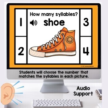 Distance Learning Syllables Boom Cards™