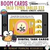 Boom Cards™ Taco Times Tables x12 - Distance Learning - Au