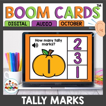 Boom Cards Tally Marks October Themed