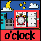 Boom Cards | Telling Time O'Clock | Analogue to Digital Time | Distance Learning