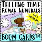 Boom Cards™ Telling Time Roman Numerals Interactive Distance Learning