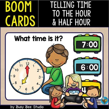 Boom Cards | Telling Time (Whole Hours &Half-Hours)
