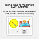 Boom Cards: Telling Time to the Minute (with AM/PM)