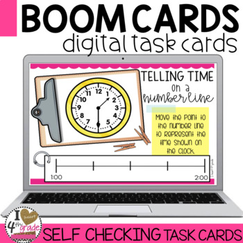 Boom Cards Telling Time using a Number Line