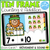 Boom Cards™ ● Ten Frame ● Counting & Addition ● Missing Addend