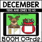 Boom Cards™   Tens and Ones   December Themed First Grade