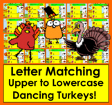 Boom Cards Thanksgiving Alphabet Letter Match: Uppercase to Lowercase-Animated!